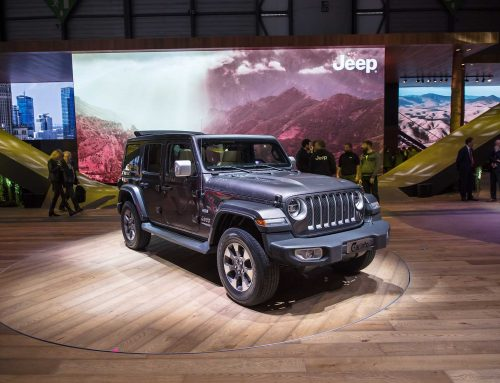 Jeep vehicles at Geneva Auto Show exhibited on Morello Ottimo hardwood floor!